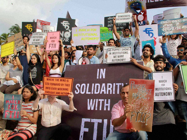 FTII protest moving in wrong direction