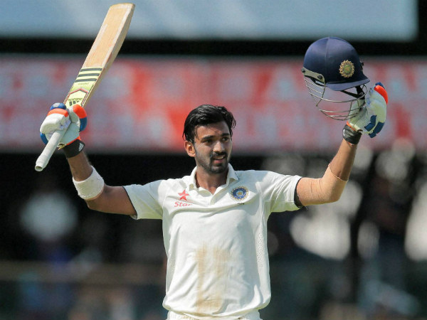 Rahul celebrates his century in the 2nd Test
