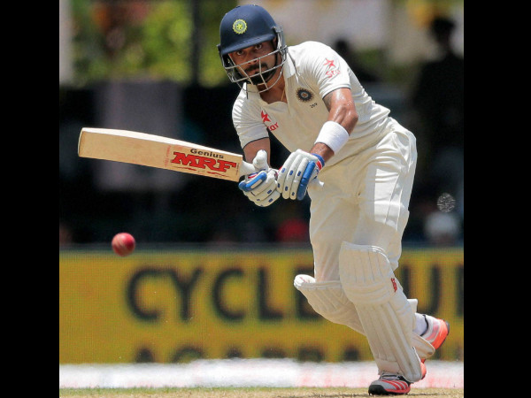 Kohli plays a shot on the opening day