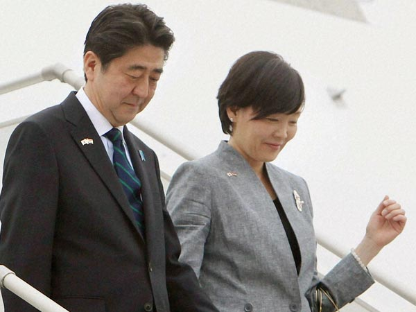 File Photo: Japanese Prime Minister Shinzo Abe and his wife Akie Abe