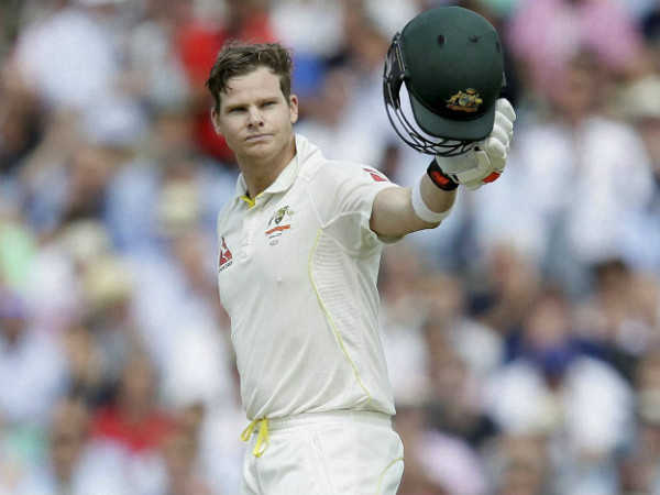 Smith celebrates his 11th Test ton