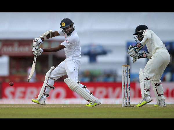File photo: Thirimanne plays a shot during the 1st Test against India in Galle
