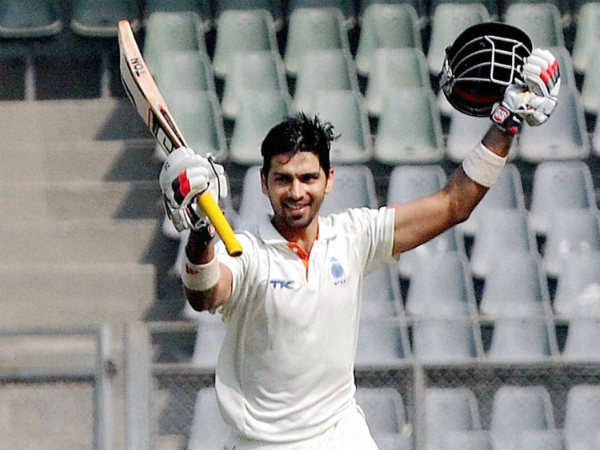 Naman Ojha is seen celebrating a Ranji Trophy ton in this file picture