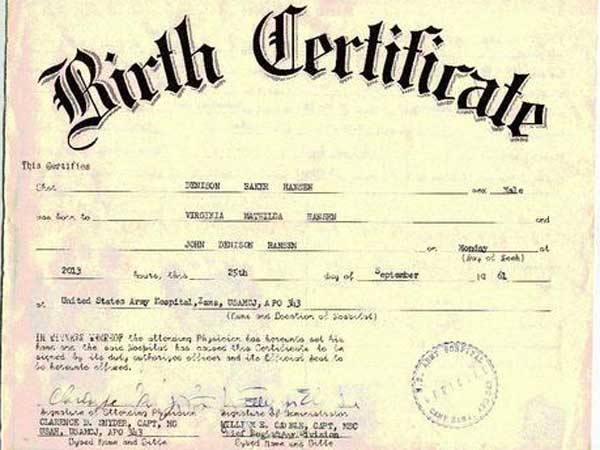 Fake indian birth certificates in documents seized in s for Novelty birth certificate template