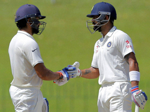 Rohit and Kohli during their partnership