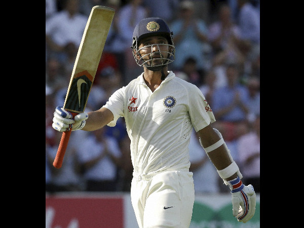 File photo of Ajinkya Rahane celebrating a Test century