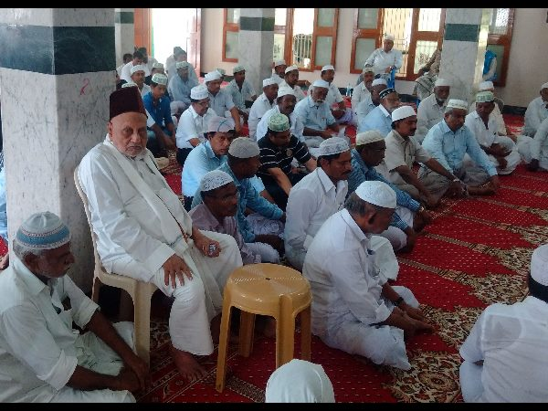 Dr Kalam's 99-year-old elder brother A P J M Maraikayar during the prayer meeting