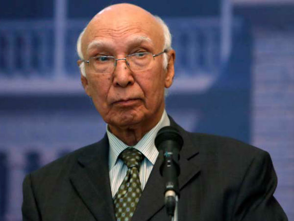Talks with India only if Kashmir on table: Sartaj Aziz.