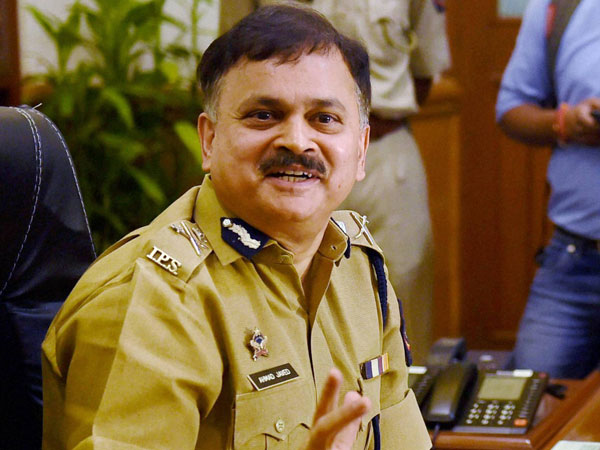 Ahmed Javed addresses a press conference after taking charge as Mumbai Police Commissioner in Mumbai