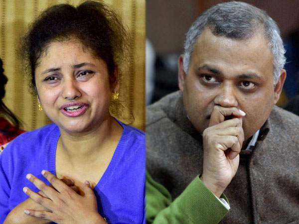 Lipika Mitra and Somnath Bharti