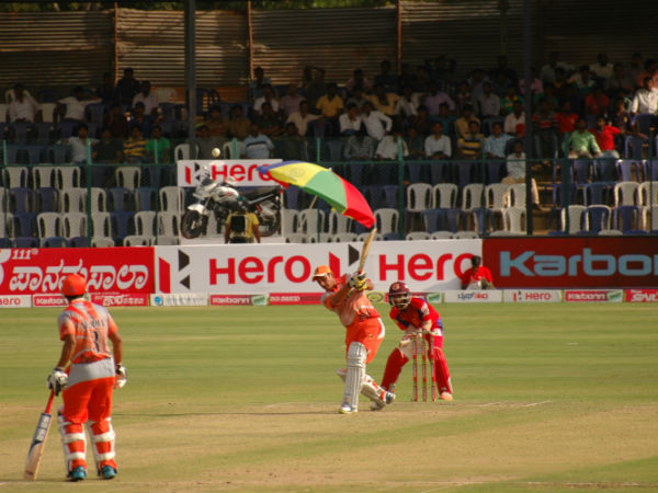 Bharat Chipli in action during his knock of 63