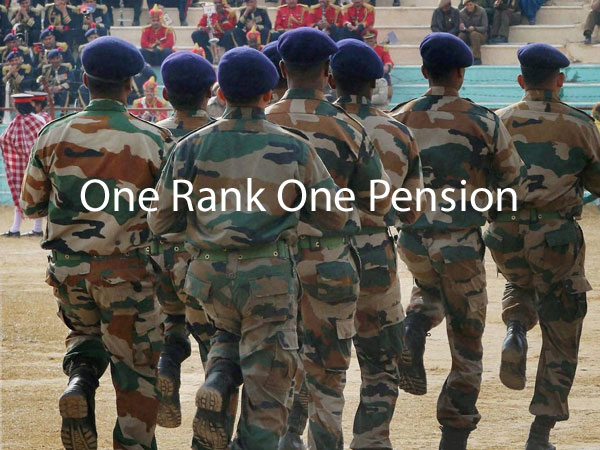 OROP agitation continues for 92nd day.