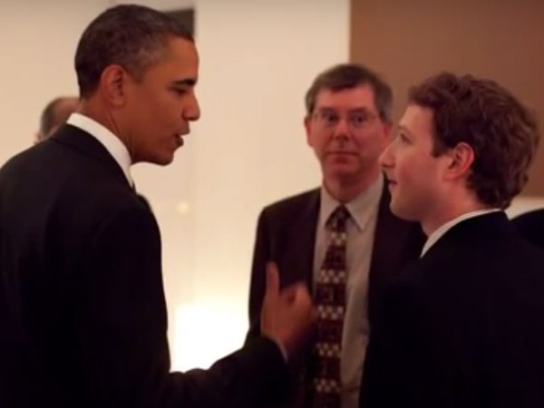US President Barack Obama with Mark Zuckerberg