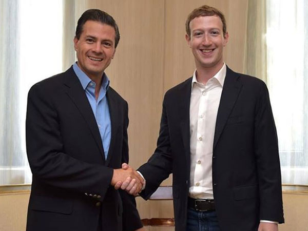 Mexico President with Mark Zuckerberg
