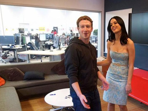 American singer Katy Perry and Mark Zuckerberg