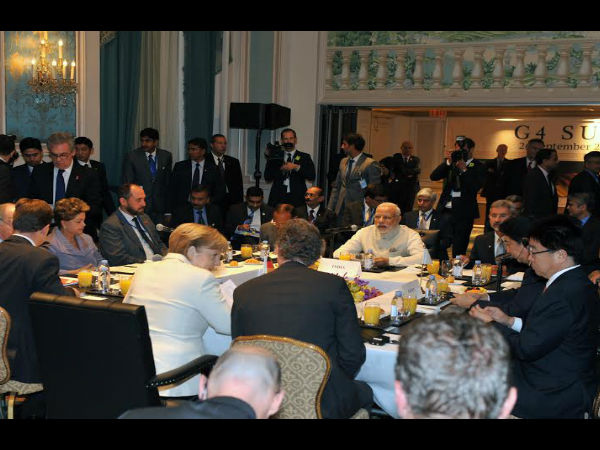 PM Narendra Modi addresses G4 summit in US