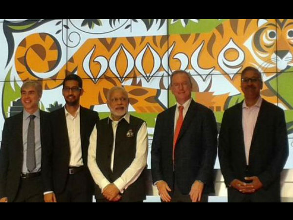 PM Modi reaches Google office
