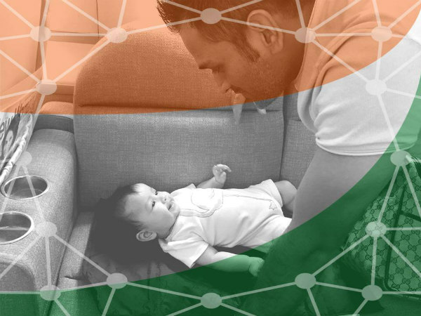 The FB profile photo of MS Dhoni with his daughter