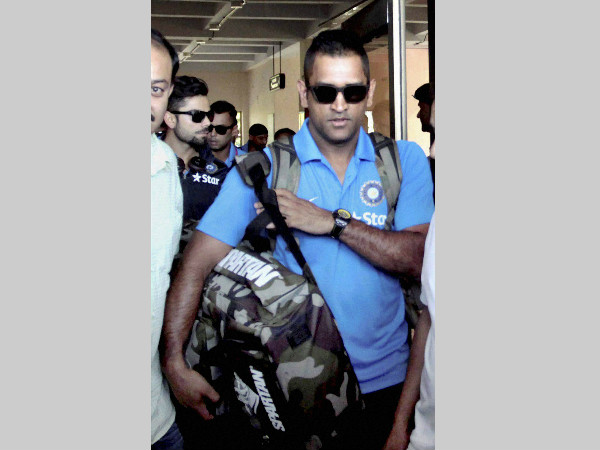 MS Dhoni arrives at Kangra Airport, Gaggal on Monday ahead of T20I match against South Africa at Dharamsala