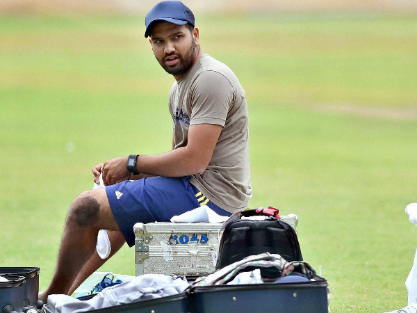 Rohti Sharma is pictured during a practice session at Team India's preparatory camp in Bengaluru recently