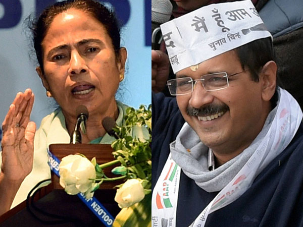 Kejriwal, Mamata meet in Delhi ahead of Bihar polls.