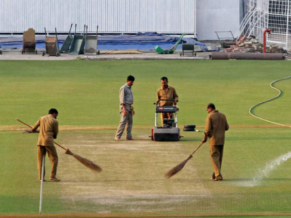 A file picture of Eden Gardens pitch