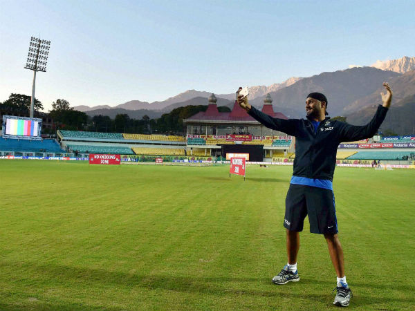 File photo: Harbhajan Singh at HPCA Stadium in Dharamsala recently