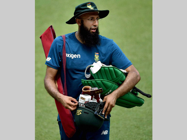 South Africa batsman Hashim Amla during a training session