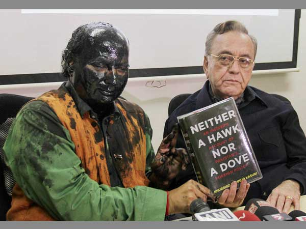 Kasuri's book launched amidst protest