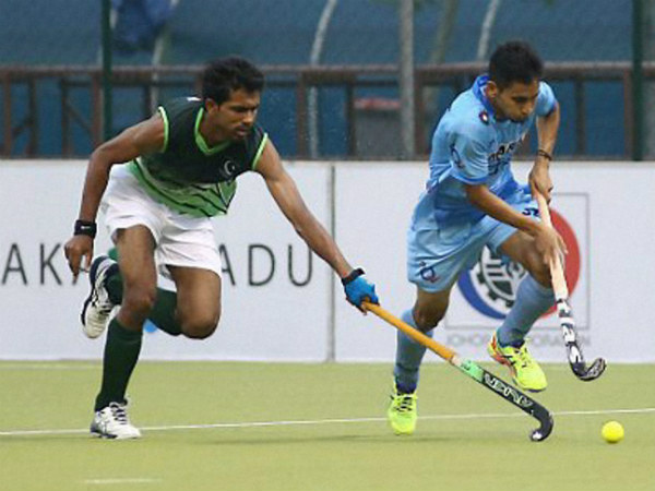 File photo: India and Pakistan players in action at Sultan of Johor Cup