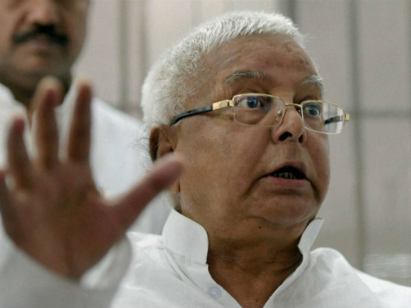 Bihar: Lalu Prasad Yadav escapes unhurt as portion of dais caves in.