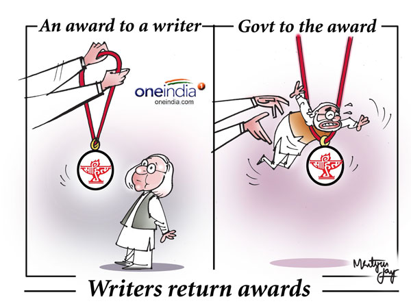 Writers return awards