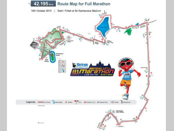 The route map of Full Marathon