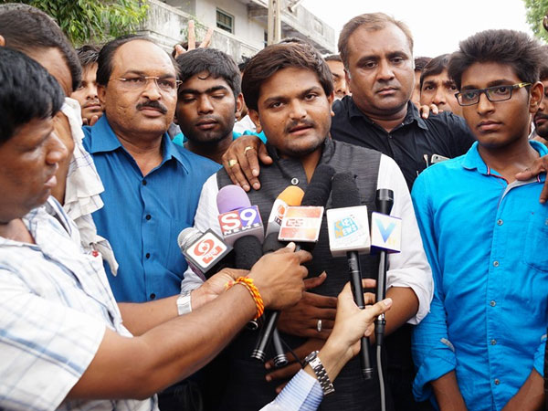 Sedition charges against Hardik Patel