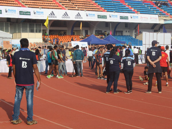 Participants are seen at Sree Kanteerava Stadium