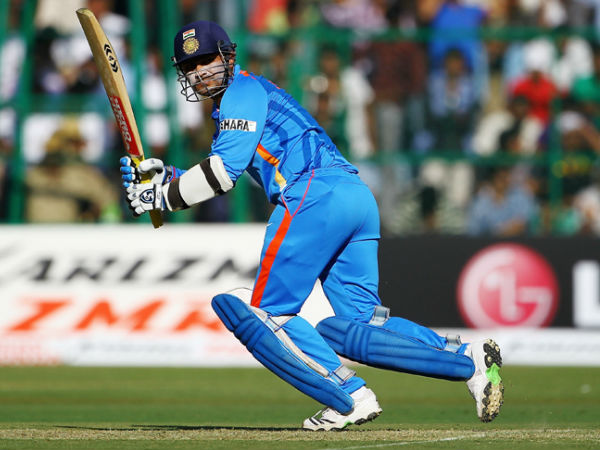 Sehwag in action during the ICC World Cup 2011 which India won