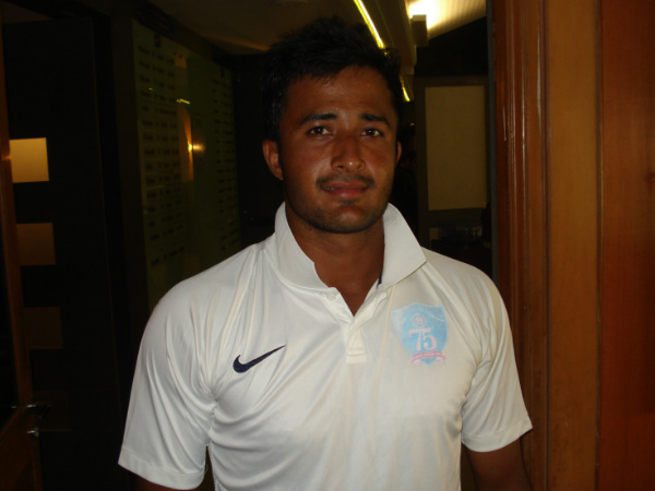 A file picture of HS Sharath, who took a hat-trick