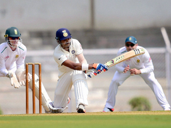 KL Rahul plays a shot against South Africa on Friday