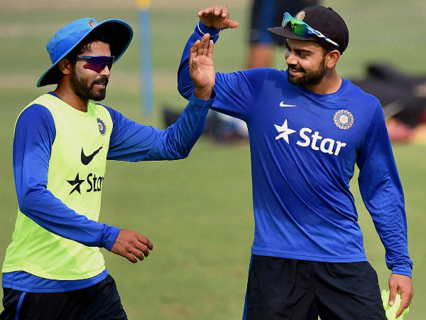 Kohli (right) with Jadeja