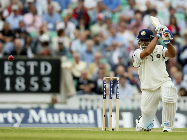 A file picture of MS Dhoni batting in a Test match