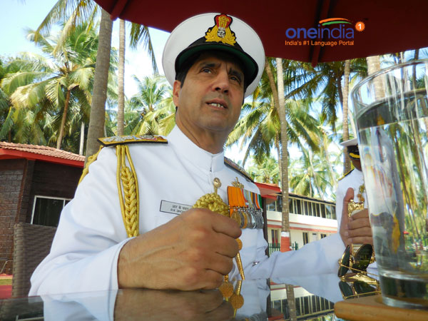 Navy Chief visits fleet review venues