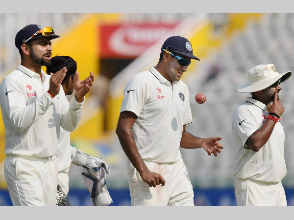 Kohli (left) praised his spinners, Jadeja in particular