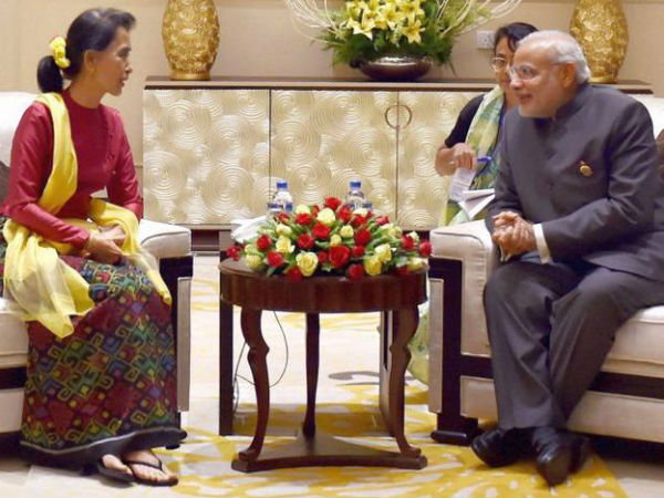 Modi calls up to congratulate Suu Kyi