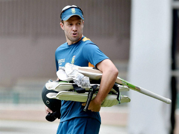 De Villiers arrives for practice in Bengaluru ahead of his 100th Test