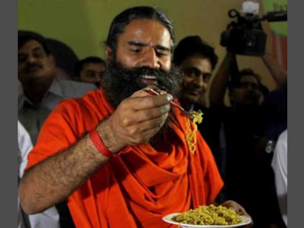 Baba Ramdev and his Atta Noodles
