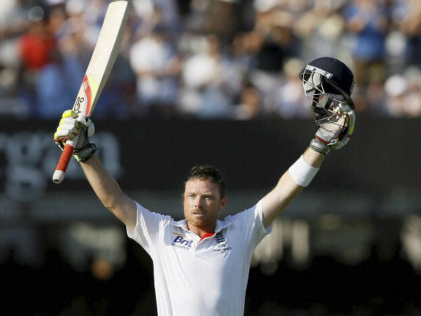 A file picture of Ian Bell celebrating a Test ton