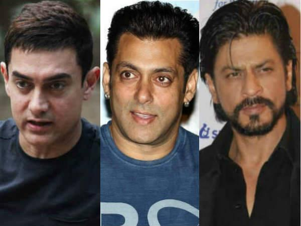 Aamir, Shahrukh and Salman Khan