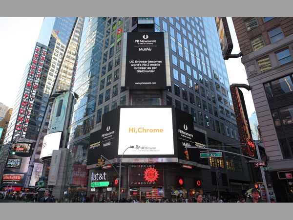 UC Browser Greets Chrome at Times Square
