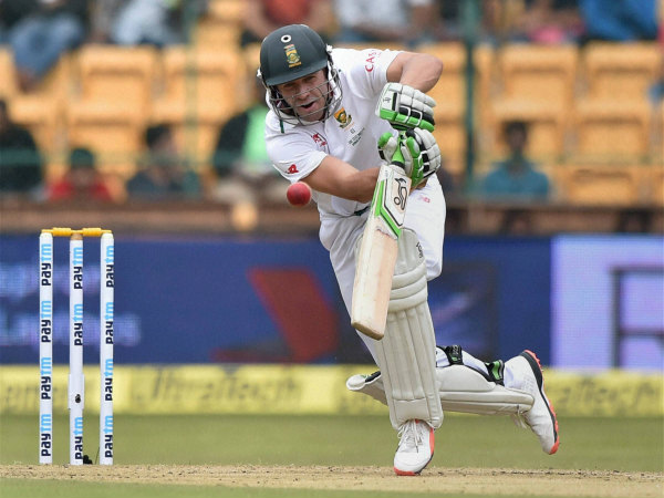 AB de Villiers plays a shot on way to 85