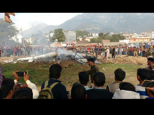 Helicopter crash kills 7 near Katra